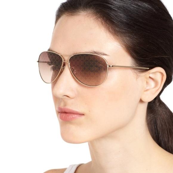 819a082d5004b Tory Burch Metallic Logo Lens Aviator Sunglasses. M 5b6ee60225457a2ef5fe0b10